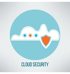 Cloud computing security icon Data protection vector image vector image