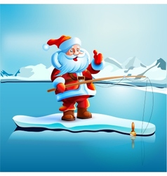 Santa Claus shows thumbs up vector image vector image