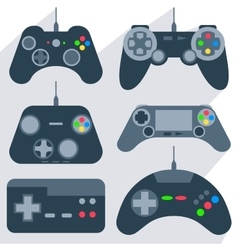 Set gamepad icons vector image