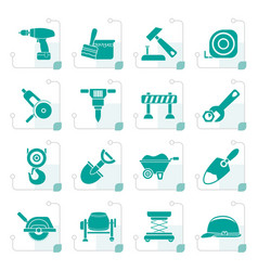 Stylized building and construction icons vector