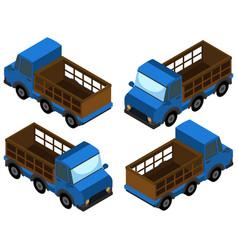 3d design for blue trucks vector image