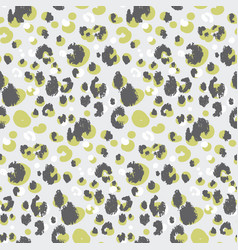 abstract leopard skin seamless pattern vector image