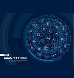 Abstract security access control background vector