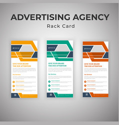 Advertising consultant agency rack card template vector