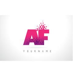 Af a f letter logo with pink purple color vector