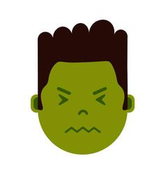 african boy head emoji personage icon with facial vector image