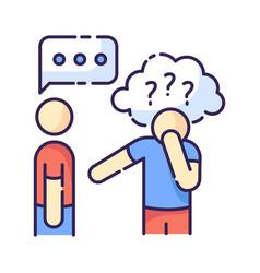 Asperger syndrome rgb color icon vector