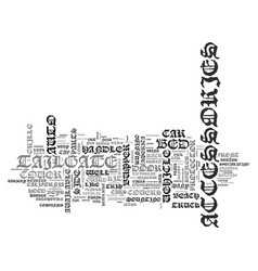 auto accessories text word cloud concept vector image