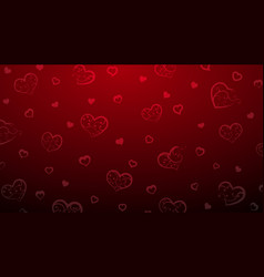 background of big and small hearts vector image