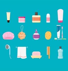 Bathroom equipments set vector