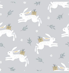 beautiful christmas seamless repeated pattern vector image
