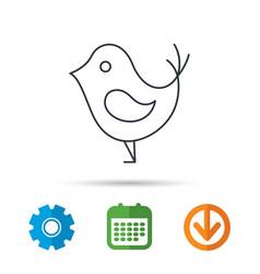 Bird with beak icon social media concept sign vector