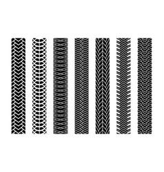 black tire tracks wheel car or transport set on vector image