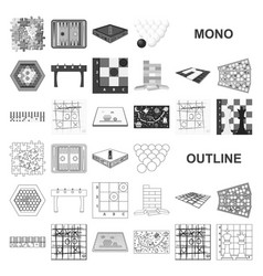 Board game monochrom icons in set collection for vector