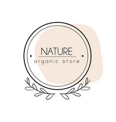 Botanical hand drawn minimal logo abstract vector