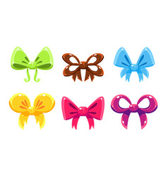 bows collection bright bows can be used for vector image