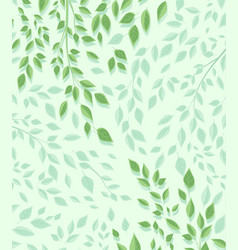 branches and green leaves vector image