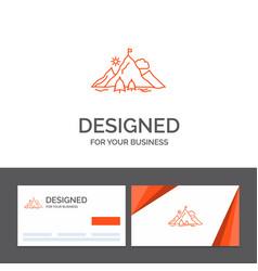 Business logo template for achievement flag vector