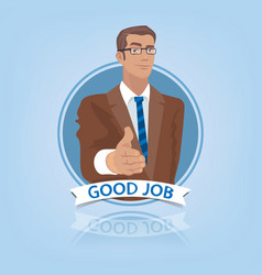 businessman stretches out his hand to say hello vector image