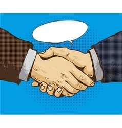 Businessmen shake hands in vector