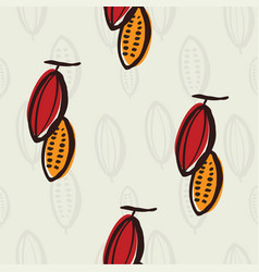 cacao plant seamless pattern vector image