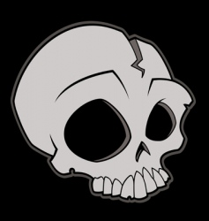 Cartoon skull vector