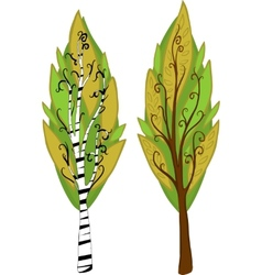 Cartoon Trees Isolated vector image