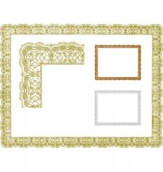 Certificate borders vector
