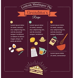 Chalkboard meal recipe template design vector image vector image