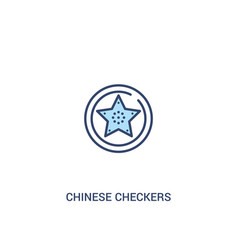Chinese checkers concept 2 colored icon simple vector