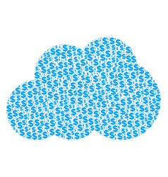 cloud collage of dollar and dots vector image