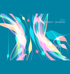 Colorful shaped on a blue vector