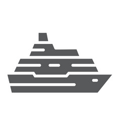 cruise ship glyph icon travel and tourism vector image