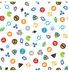 cryptocurrency seamless pattern crypto currency vector image
