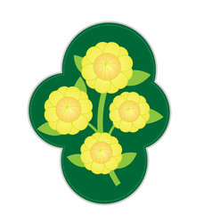 Cute flower garden isolated icon on white backgrou vector