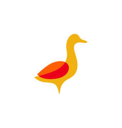 Duck logo icon overlap overlapping vector