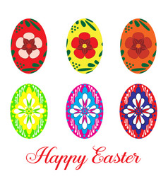 easter egg set flat isolated vector image