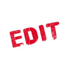 Edit rubber stamp vector
