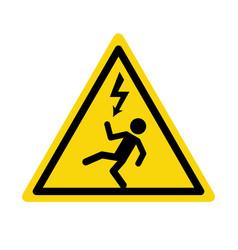 Electric high voltage danger haard icon vector