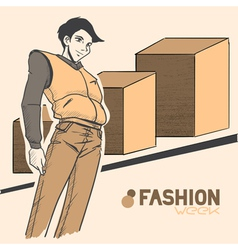 fashion style10 vector image