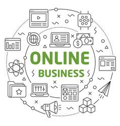 flat lines for presentation online vector image