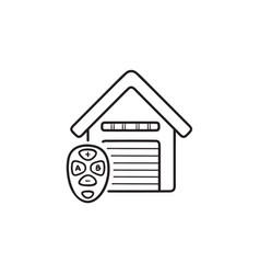 garage remote control hand drawn outline doodle vector image