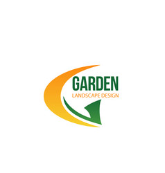 garden landscape company letter g icon vector image