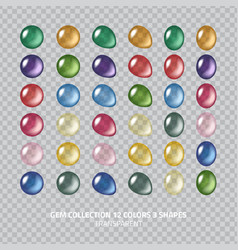 gemstones set vector image