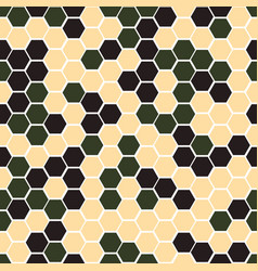Gexagonal camouflage digital pattern vector