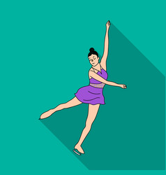 girl in purple dress dancing on skates on ice vector image