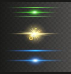 glowing neon lights line vector image