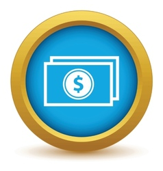 Gold money icon vector image