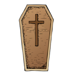 Halloween coffin vector