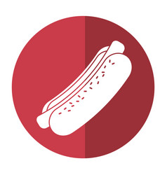 Hot dog fast food shadow vector